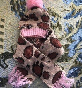 Шапка + шарфик для собаки