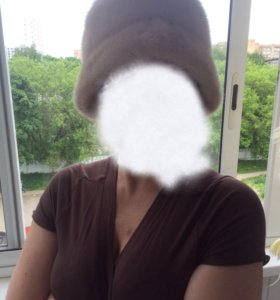 Шапка-шляпка норковая 57 р