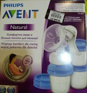 Молокоотсос AVENT + новые силиконовые накладки