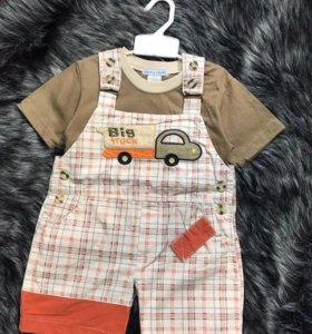 Комбинезон шорты и футболка детские