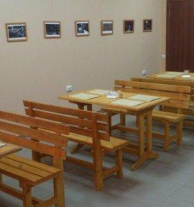 Стойка, стеллаж, столы и скамейки