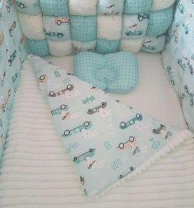 Бортики, одеялко, простынь