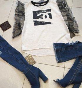 Новые джинсовые летние ботфлрты