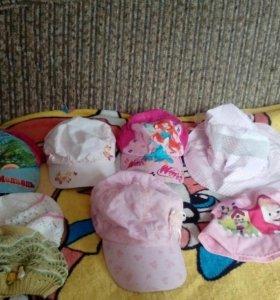 Головные летние уборы для девочки