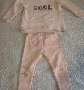 Детский костюм Zara (отдельно штаны Next, боты)