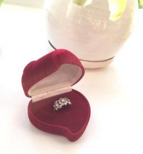 Кольцо серебро- 975 проба, размер 17,5