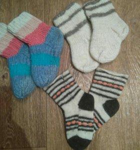 Носочки тёплые (цена за три пары)
