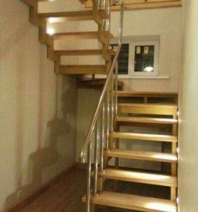 Ограждение, перила для лестницы на второй этаж