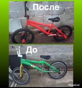 Восстановление и тюнинг велосипеда