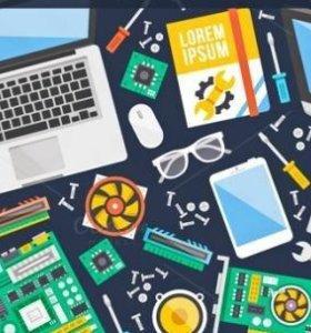 Сборка,ремонт,настройка компьютеров,ноутбуков и др