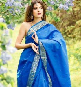 Индийское оригинальное сари напрокат