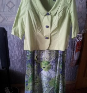 Платье с пиджаком размер 46-48