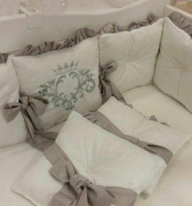 Набор в овальную кроватку 23 предмета