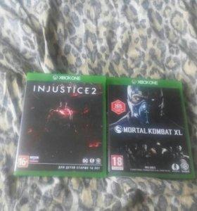 Игры xbox one Mortal Kombat xl,injustice2