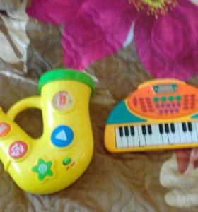 Музыкальные игрушки за 2 шт