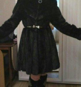 Норковая шубка-платьице