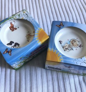 Набор детской посуды, новый