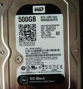 Новый WD Black 500Гб azex 10шт