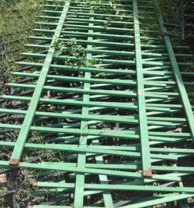 Забор кованный длина одного 2.9 высота 1м 6штук