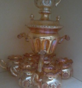 сувенирный самовар и 6 чашек ссср