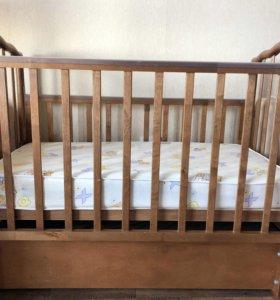 Кроватка маятник +матрац