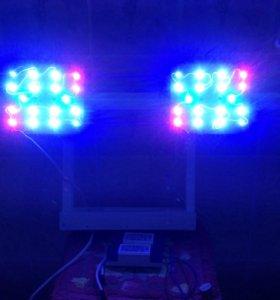 RGB светильник . 108 w, 8450 люмен. Подвесной .