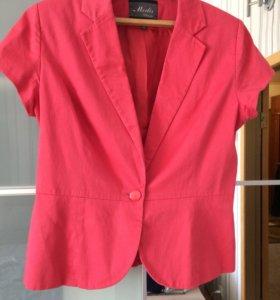 Розовый летний пиджак