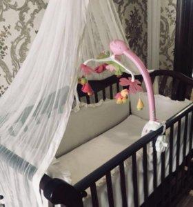 """Детская кроватка""""Мажга"""" натуральное дерево"""