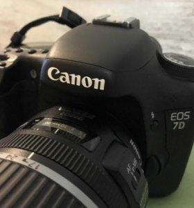 Зеркальный фотоаппарат canon 7D,объектив canon EFS