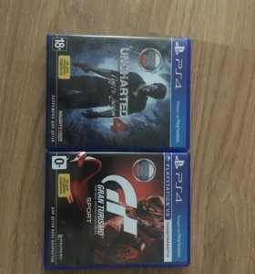 Uncharted 4:Путь вора и Grant Turismo Sport Ps4