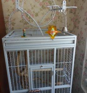 Клетка вольер для крупного попугая