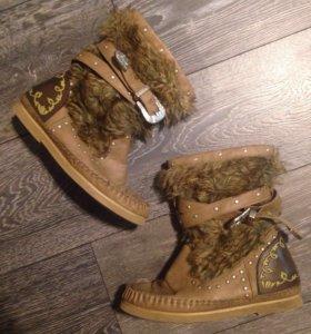 Сапожки ботинки демисезонные зимние