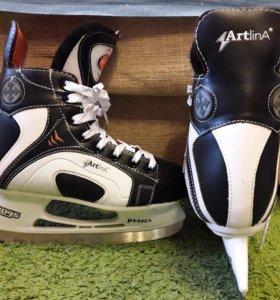 Коньки ледовые хоккейные ArtlinA,38 размер