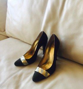 Туфли натуральная замша зеленые