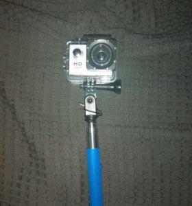 Экшен камера + защита + монопод