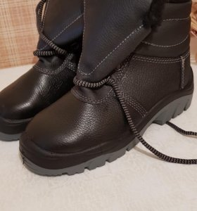 Ботинки кожаные утепленные (жен/муж)