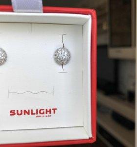 Серьги-гвоздики Sunlight