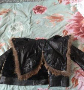 Зимняя кожанная куртка