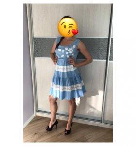 Платье для беременных/кормления хлопок 42-44 р