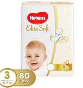 Подгузники Huggies Elite Soft 3(5-9кг) 80шт