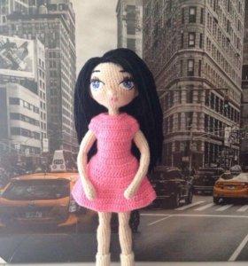 Вязаная игрушка кукла,ручная работа на заказ
