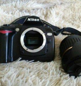 зеркальный фотоаппарат Nikon D70 + внешняя вспышка