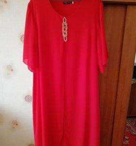 Платье красное 56-58