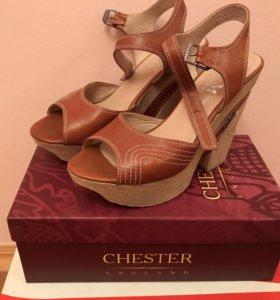 Кожаные летние туфельки, 39 размер