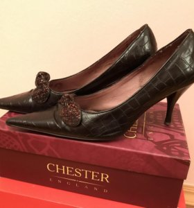 Кожаные туфли, 39 размер