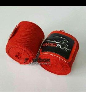 Боксёрский шлем, перчатки и бинты(красные)