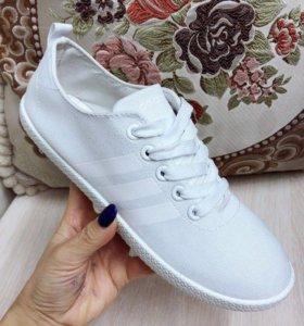 Белые кроссовки 👟 adidas neo