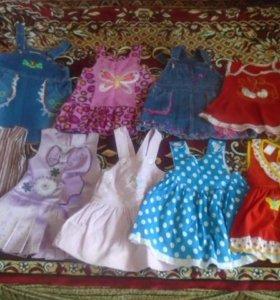 летний гардероб для дочек