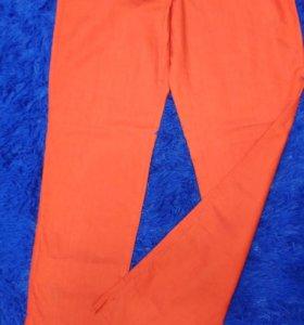 👖 джинсы коралловый цвет