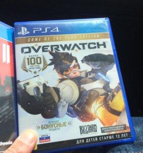 Диск для PS4 Overwatch